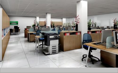 Thiết kế nội thất công ty xây dựng Trung Nam