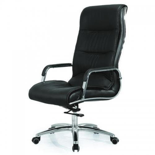Ghế văn phòng D605H, chất liệu: Da công nghiệp, thép mạ