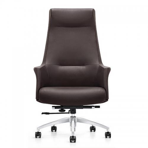 Ghế văn phòng LS-1603A, chất liệu: da CN, chân thép mạ