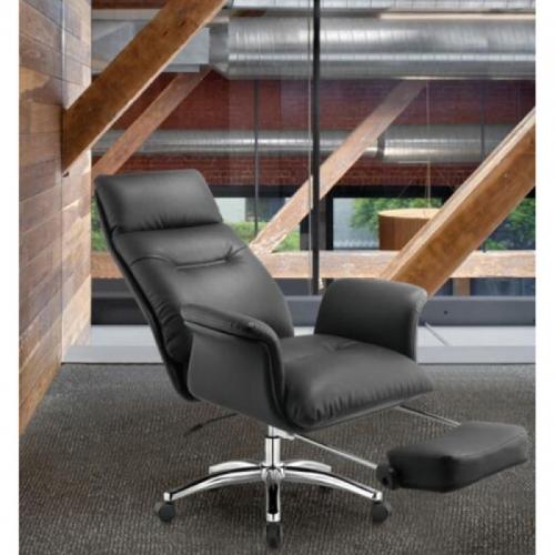 Ghế ngủ S608, chất liệu: da CN, chân thép mạ